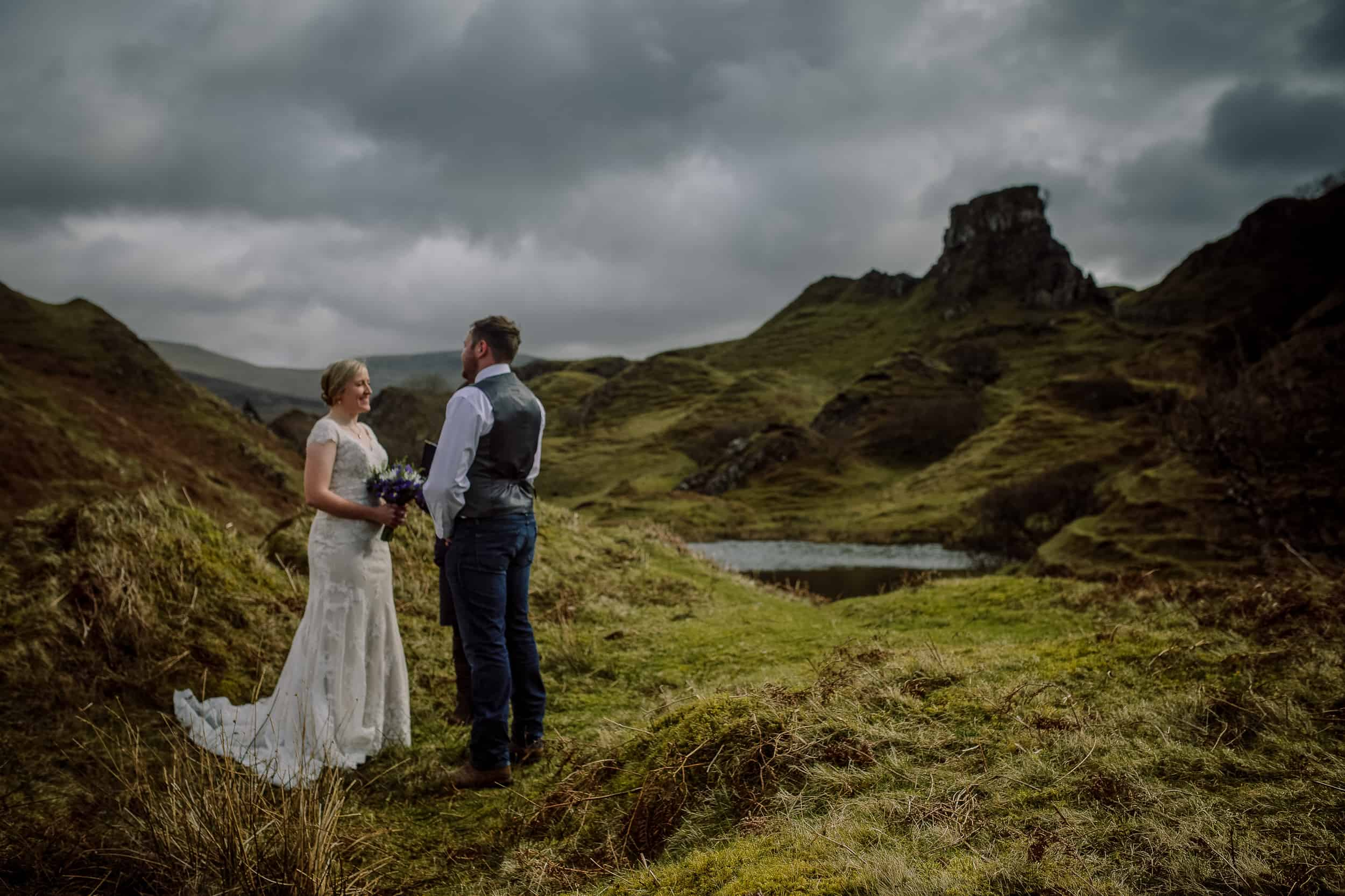 Elopement wedding photography Fairy Glen Isle of Skye