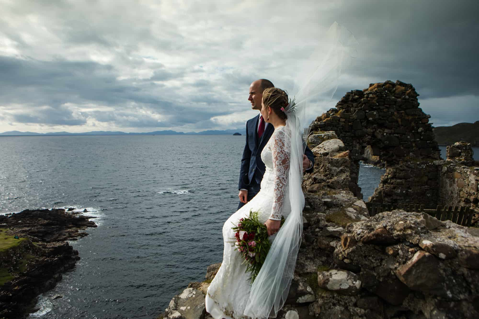Elopement photography Isle of Skye Scottish castle