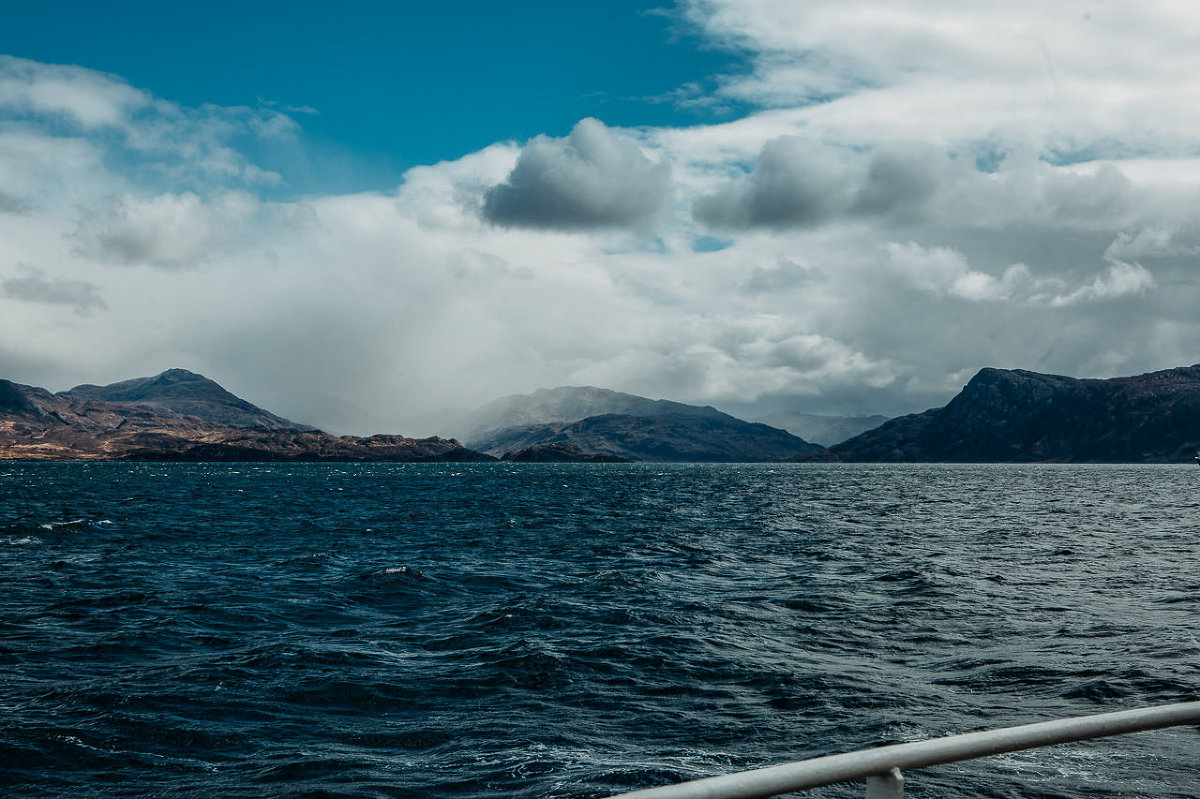 view to Loch Hourn and knoydart sailing from Skye