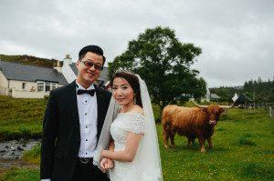 Asian Pre wedding photography, Isle of Skye, Scotland, Old Man of Storr ,Eilean Donan Castle