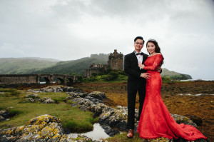 Asian Pre wedding photography, Isle of Skye, Scotland, Old Man of Storr ,Eilean Donan Castle