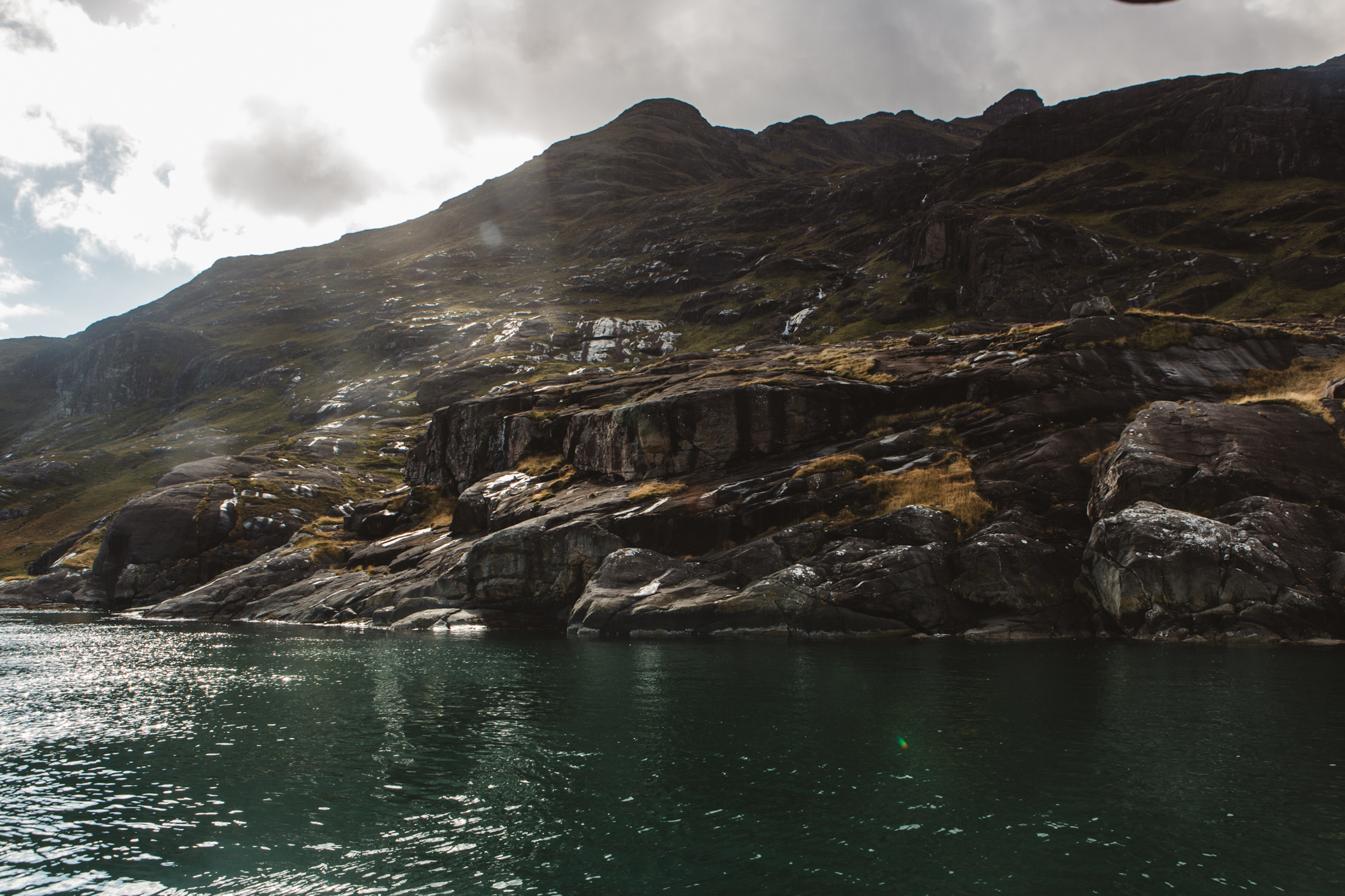 View from wheelhouse of Misty Isle boat to Cuillin