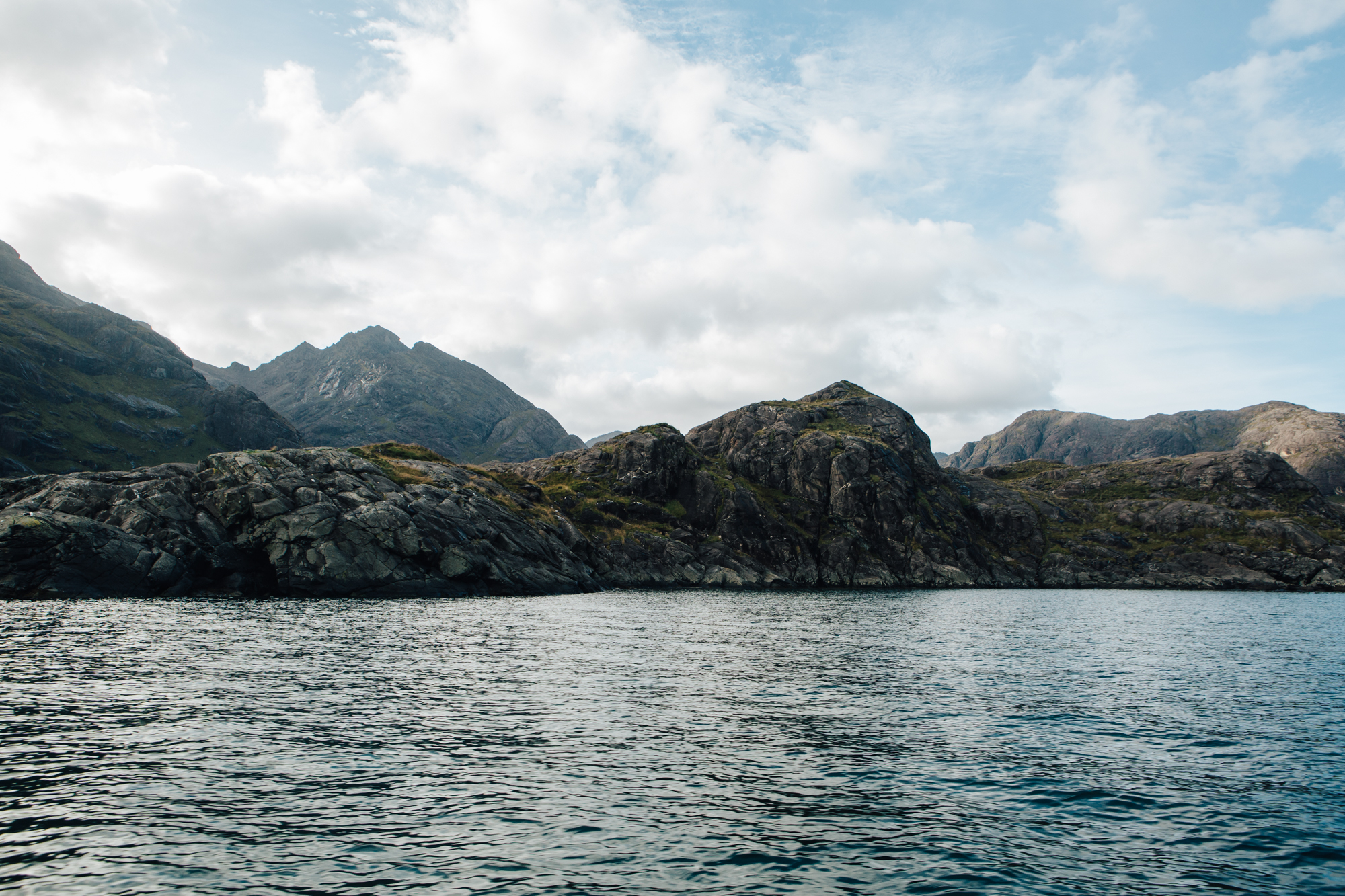 View from aboard Misty Isle boat , Sgurr na Stri behind