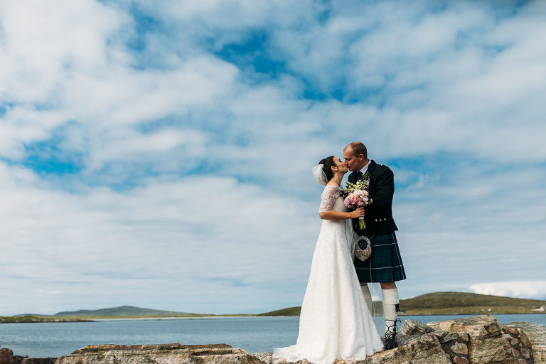 Bride and Groom North Uist wedding photography