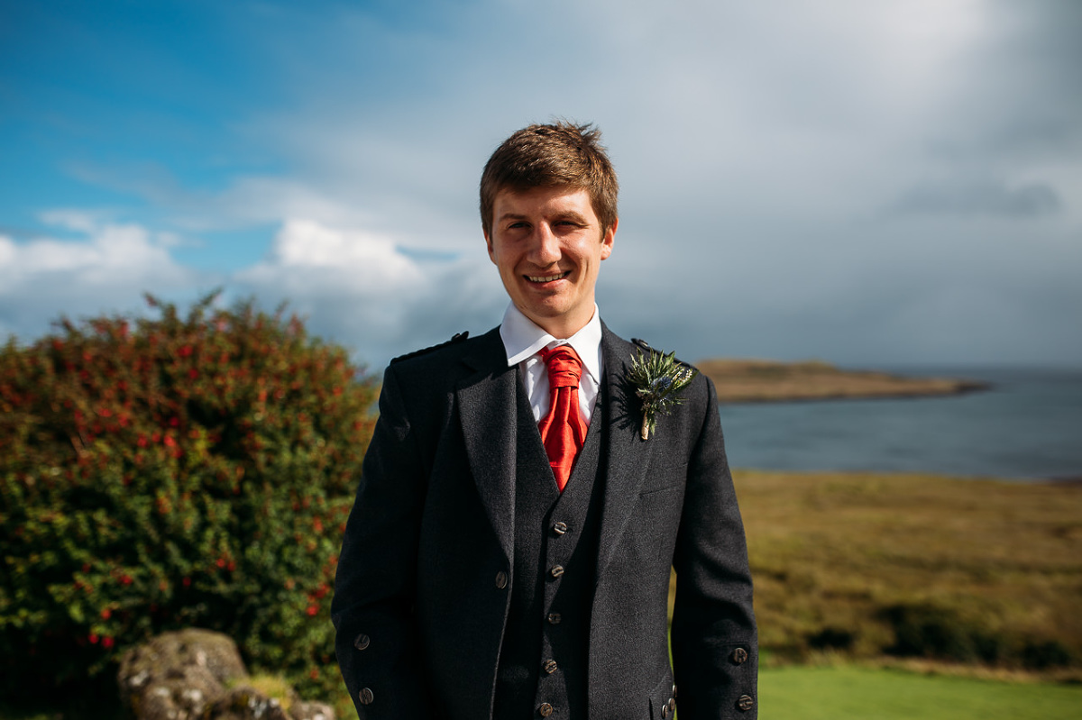 Groom at Flodigarry Hotel Isle of Skye