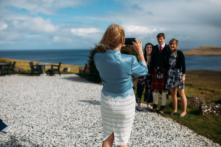 Family wedding photos Flodigarry Hotel Isle of Skye