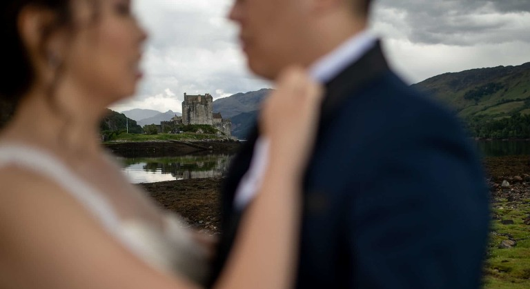 Hong Kong Bride and Groom Eilean Donan Castle photographer