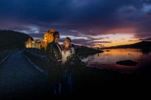 eilean donan castle scotland sunset wedding photography