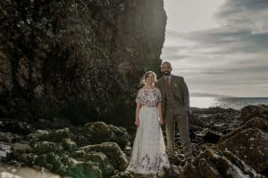 Dunscaith castle Isle of Skye wedding Photograph