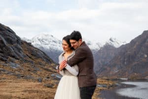 Winter elopement wedding Isle of Skye Scotland