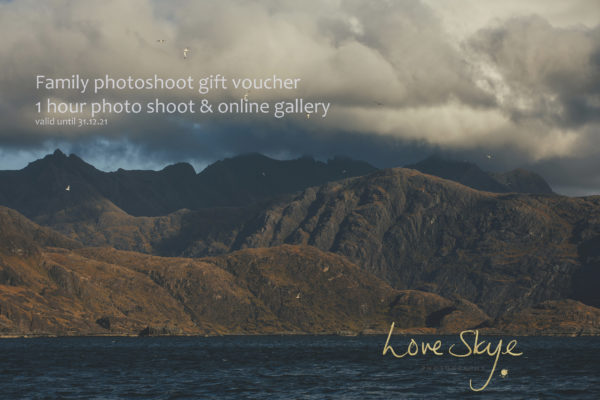 Isle of Skye family photography gift voucher